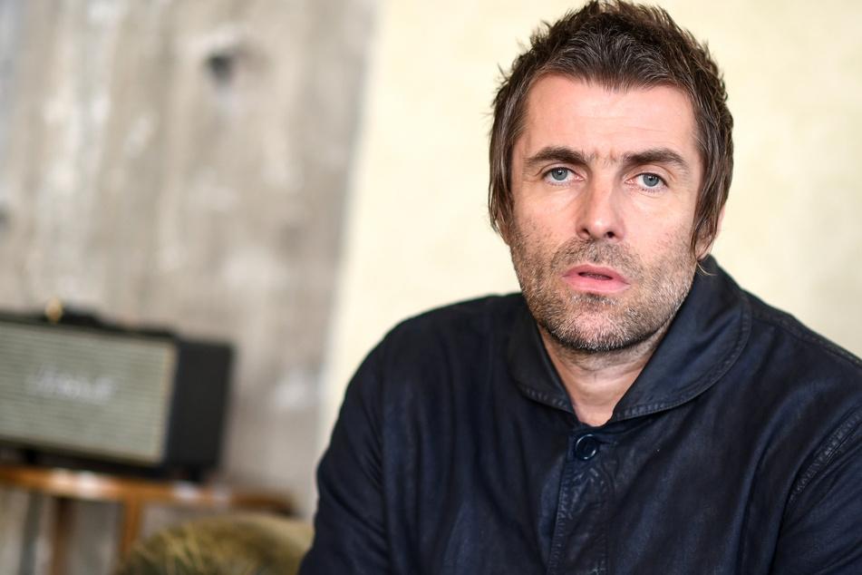 Liam Gallagher vor dem Sturz.