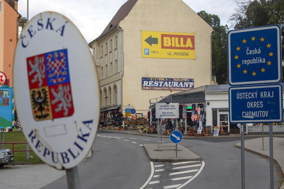 Vejprty, Tschechien: Nur wenige Erzgebirger machen in diesen Tagen einen Abstecher ins Nachbarland.