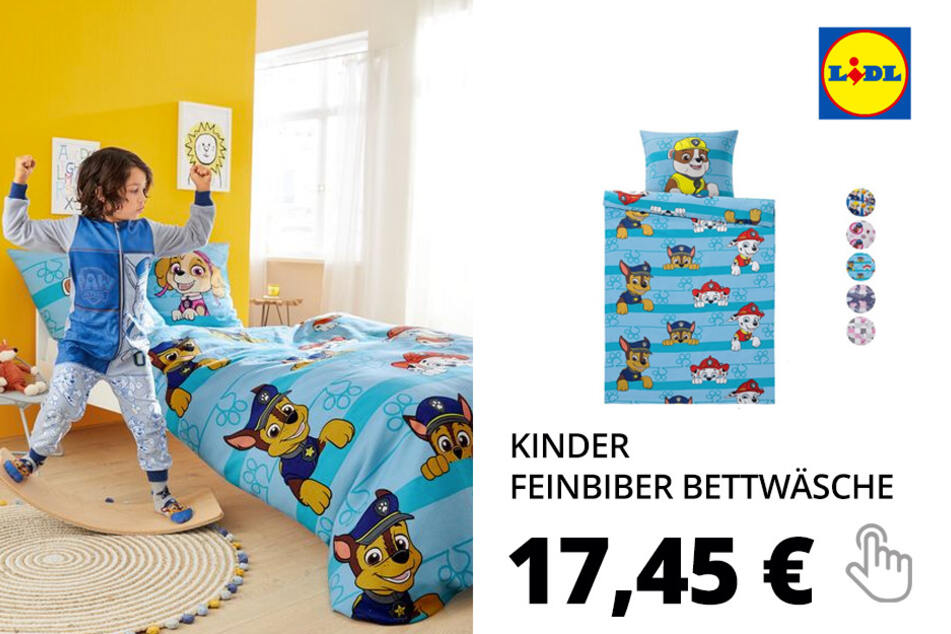 Kinder Feinbiber Bettwäsche, 135 x 200 cm