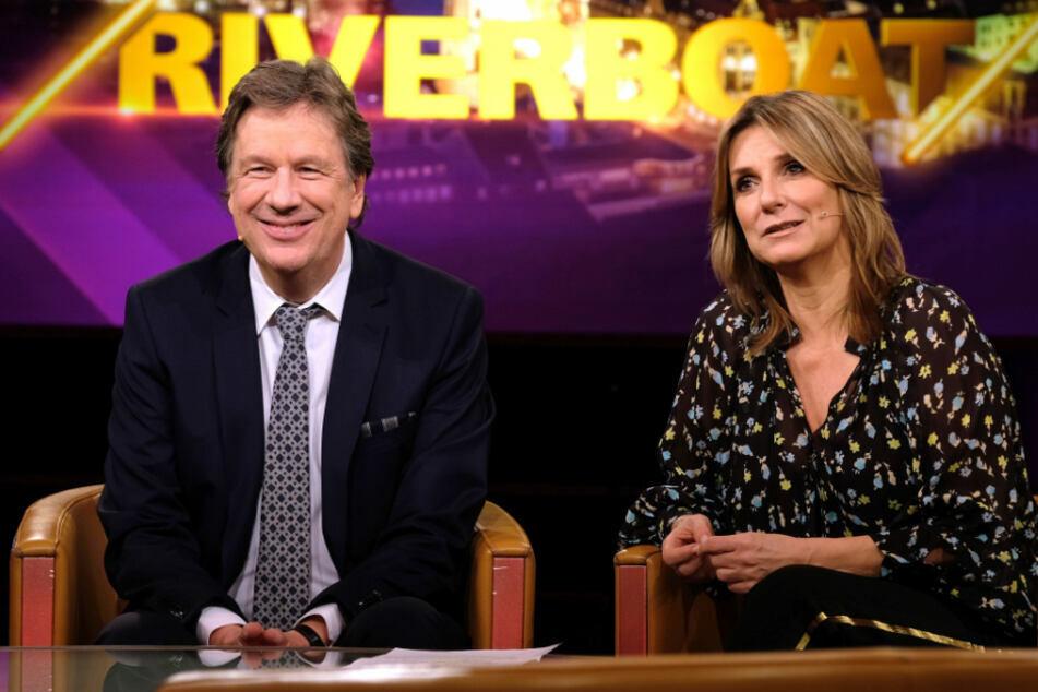 Die Riverboat-Moderatoren Jörg Kachelmann (61) und Kim Fisher (51).