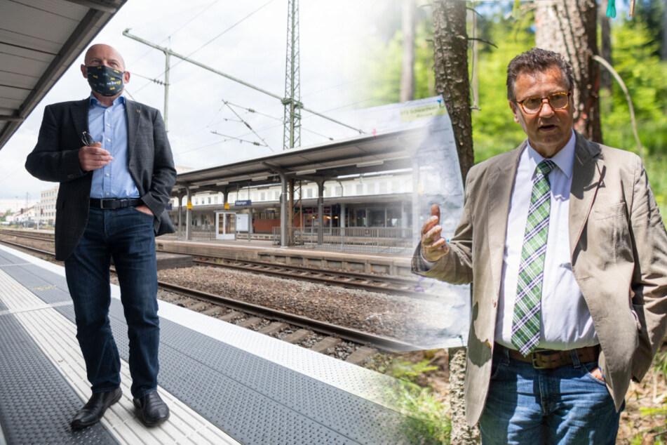 Verkehrsminister Hermann (links) und Agrarminister Hauk (rechts).