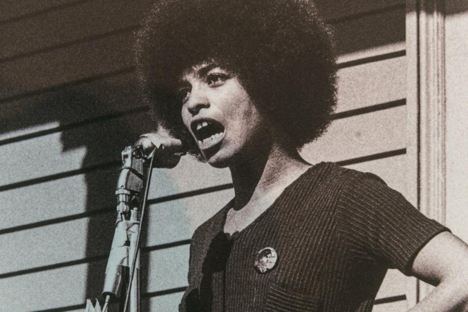 Ikonisches Foto: Davis 1969 bei einer Demo in Kalifornien.