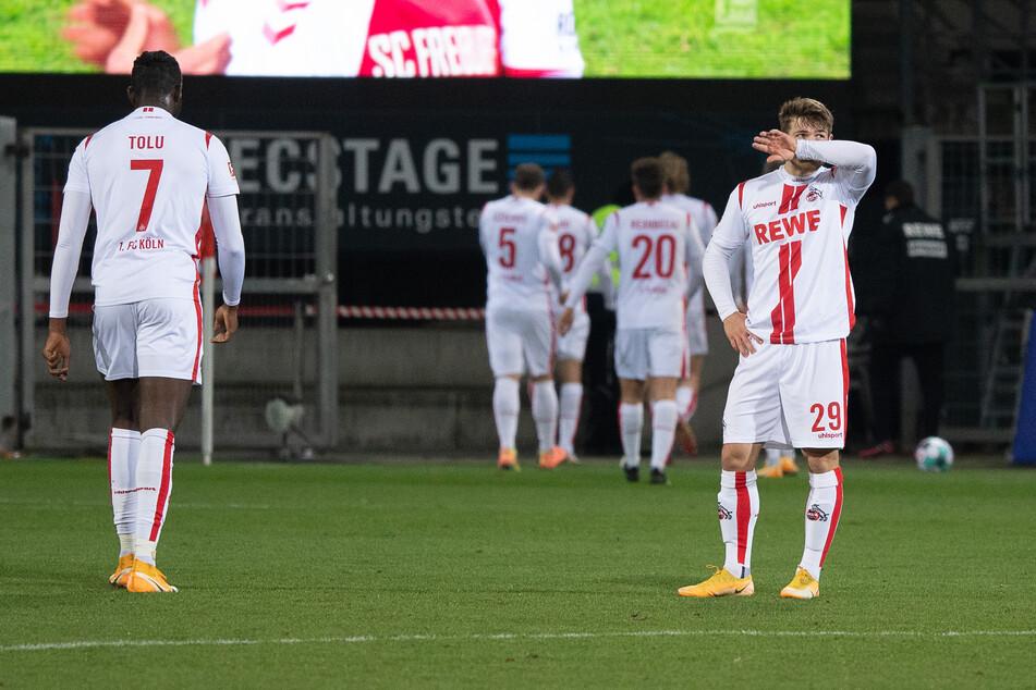 Geschlagene Spieler des 1. FC Köln nach der 0:5-Niederlage gegen den SC Freiburg am Samstag.