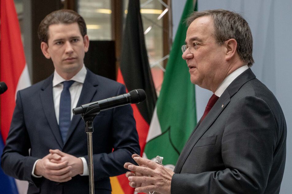 """Laschet und Kurz fordern im Corona-Kampf """"Kooperation über die Grenzen hinweg"""""""