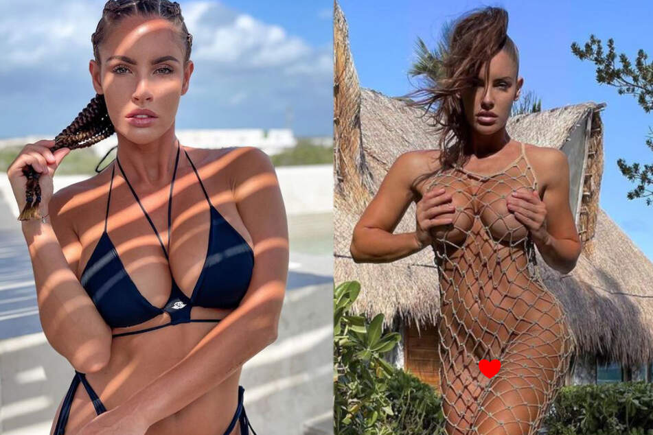 Model Lucia ditches the panties and tricks Instagram by baring it all!