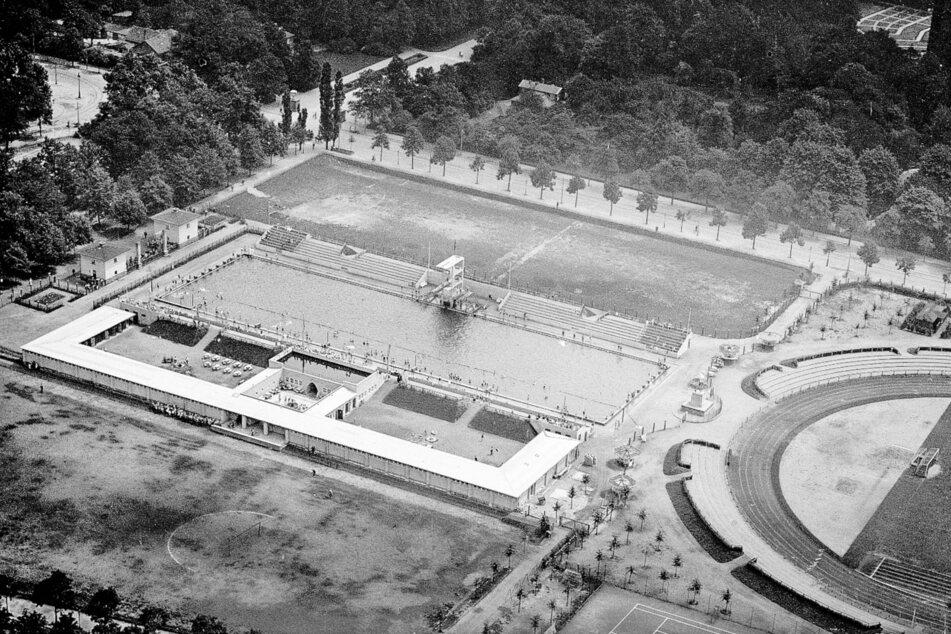 So sah das Georg-Arnhold-Bad bei seiner Eröffnung 1926 aus.