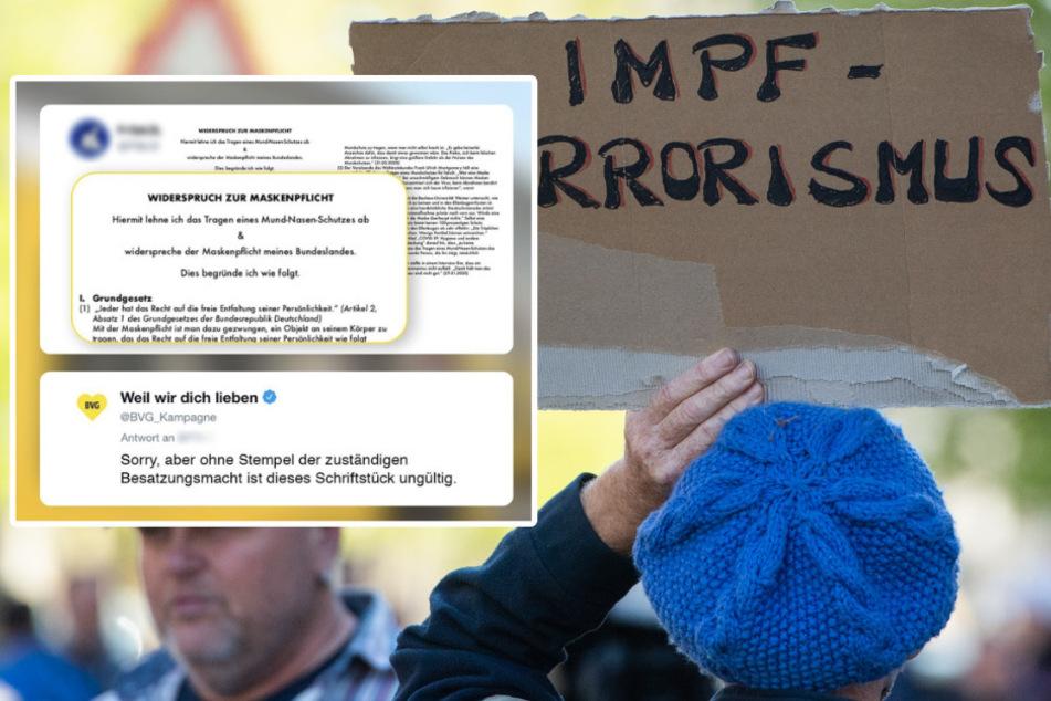 Widerspruch gegen Maskenpflicht eingelegt: BVG mit genialer Antwort
