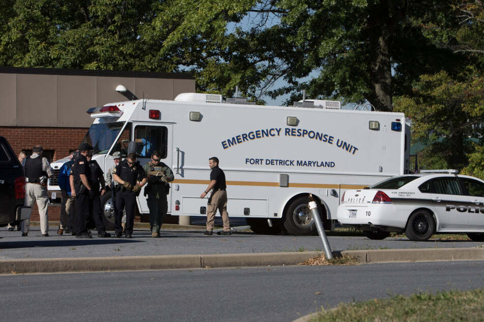 The emergency response unit holds a training session at Fort Detrick (archive photo).