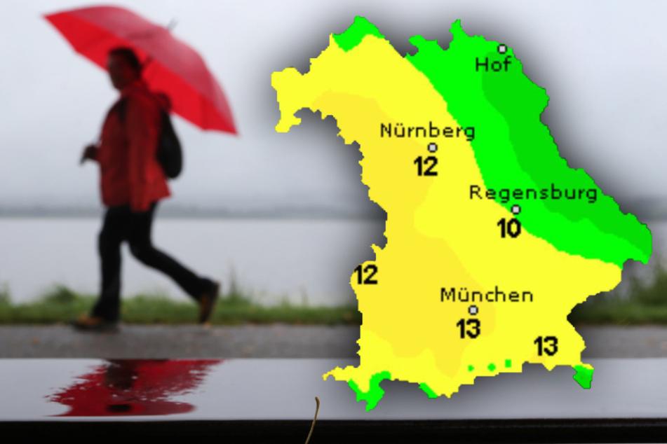Sonne oder Regenschirm? So wird das Wetter in Bayern