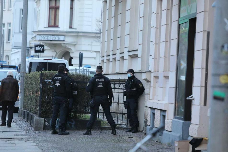 Auch ein Objekt in der Kohlgartenstraße in Leipzig wurde durchsucht.