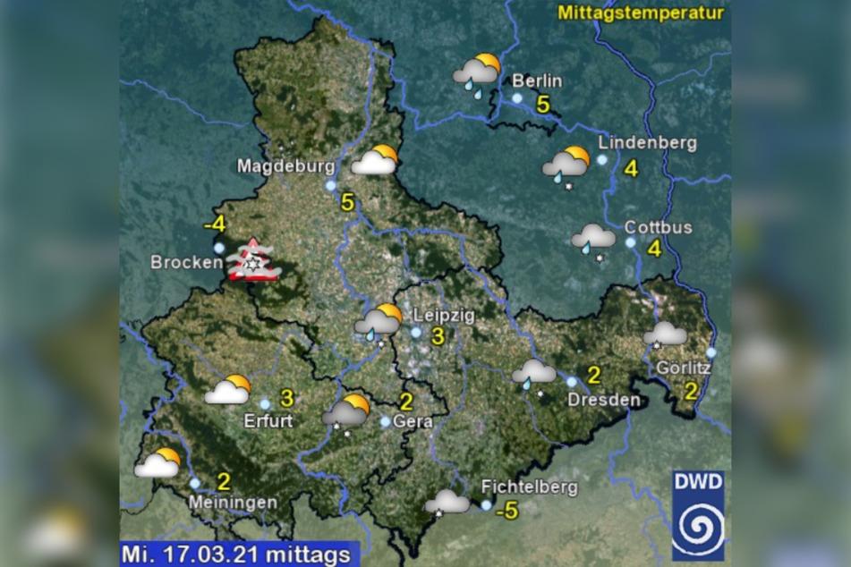 ... und auch in den nächsten Tagen bleibt es kalt und nass.