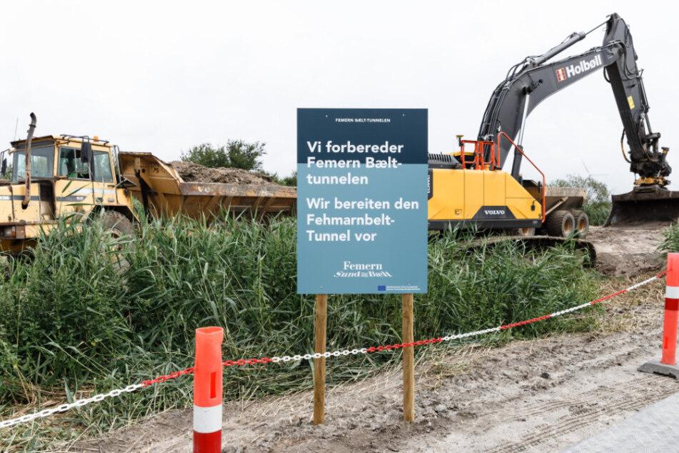 Im dänischen Rødbyhavn wird bereits gebaut. (Archivbild)