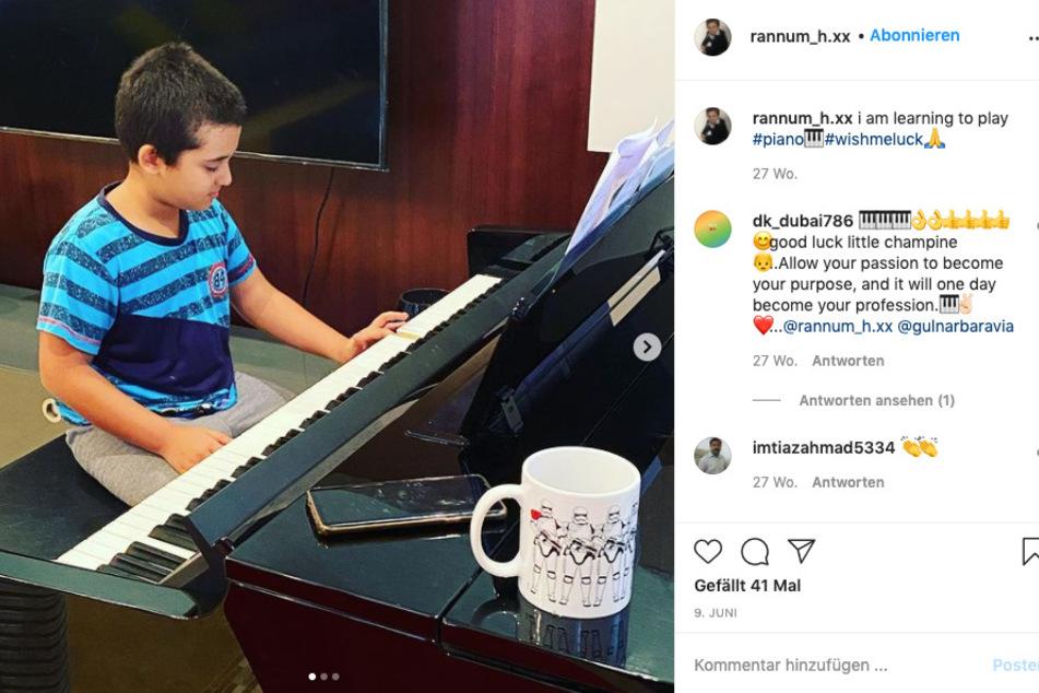 Natürlich hat auch (der vielleicht angehende Pianist) Rannam (12) schon eine eigene Instagram-Seite.