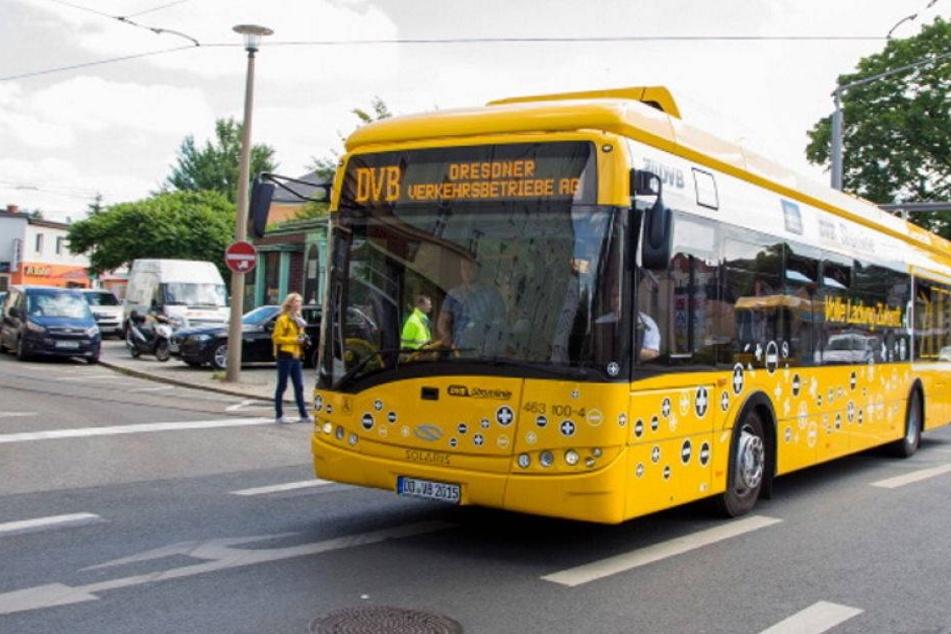 In Zwickau fährt jetzt dieser E-Bus, aber nur vier Tage lang