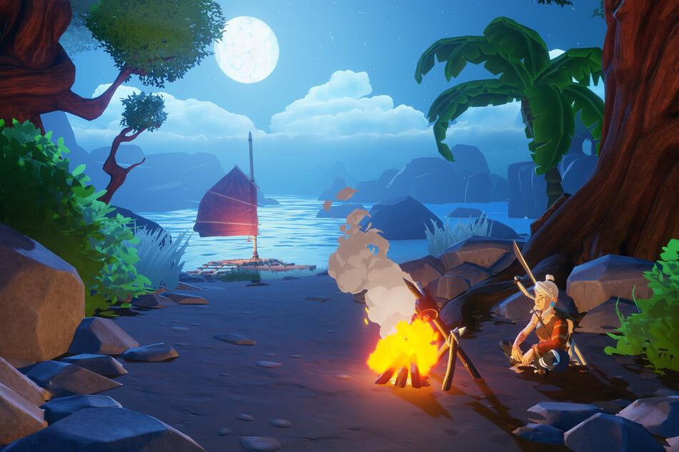 """In """"Windbound"""" werdet Ihr nicht nur zur Seefahrerin, sondern erkundet auch geheimnisvolle Inseln."""