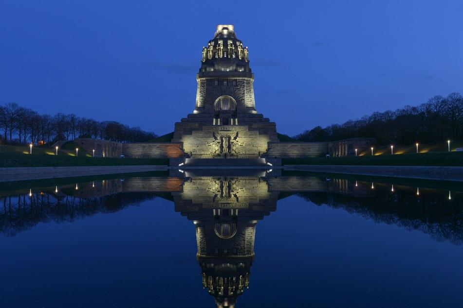 Ob mit Feuerwerk oder ohne, vom Völkerschlachtdenkmal hat man immer einen atemberaubenden Blick.