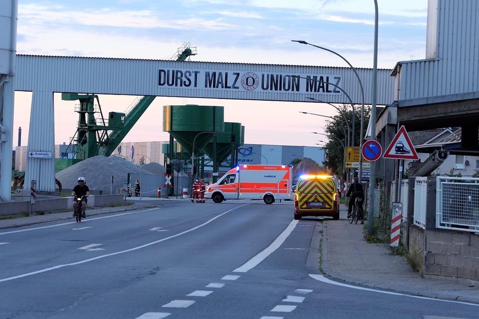 Der Vorfall ereignete sich am Donnerstagabend im Gernsheimer (Südhessen) Hafengelände im Tanklager der Firma Solvadis.