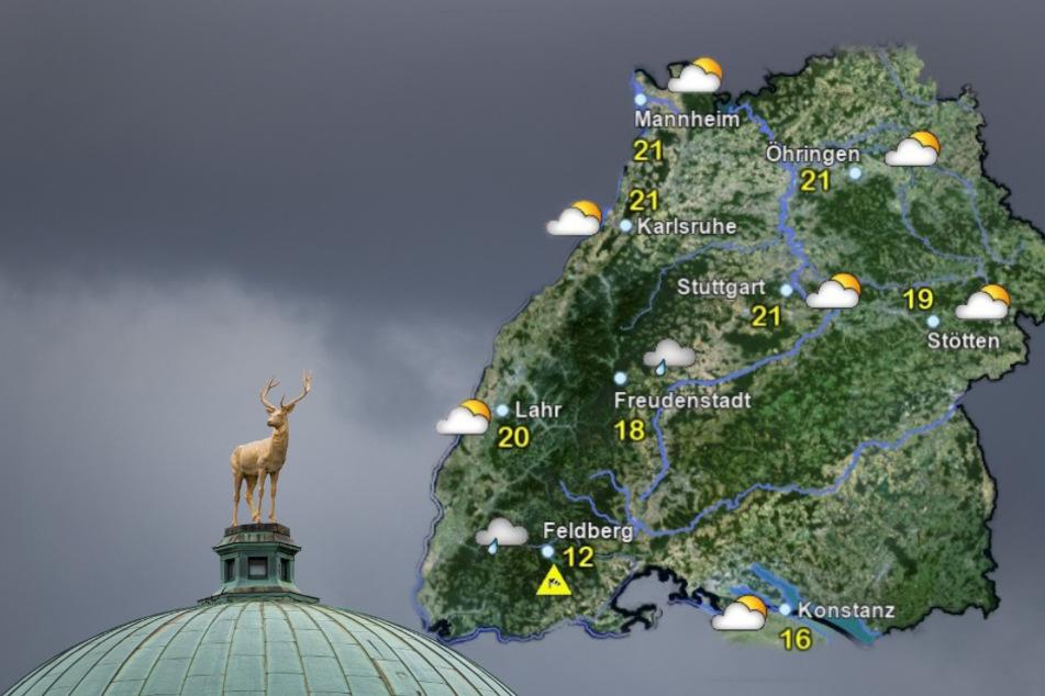 So regnerisch wird das Wetter in Baden-Württemberg
