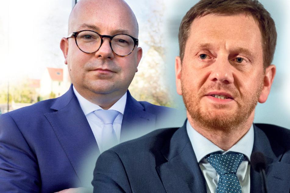 Bekommt bald Protest-Post aus dem Bundestag von Frank Müller-Rosentritt (37, FDP, links): Landesvater Michael Kretschmer (44, CDU).