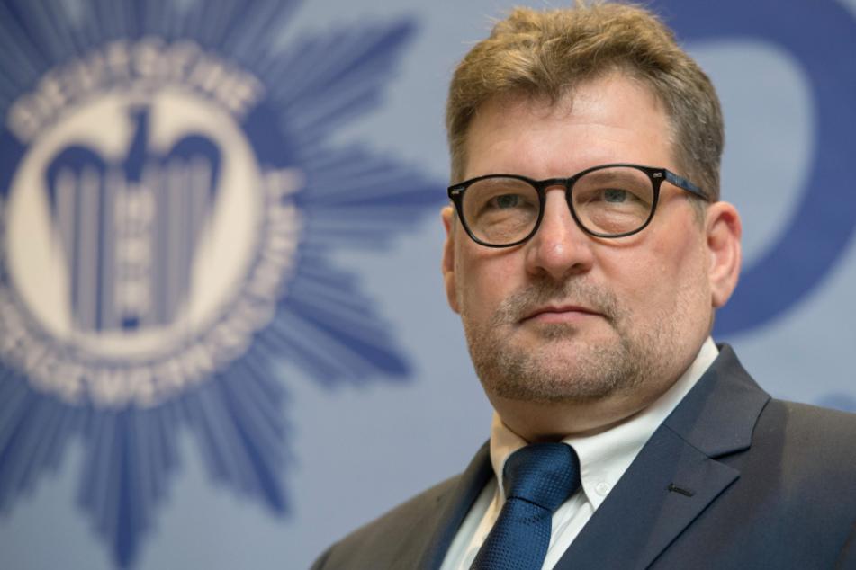 Ralf Kusterer, der Landesvorsitzende der Deutschen Polizeigewerkschaft Baden-Württemberg (DPolG-BW), bei einer Veranstaltung der DPolG-BW.