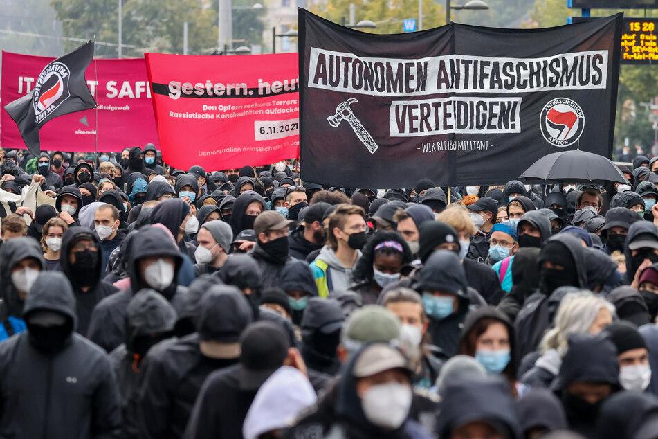 Mehrere tausend Menschen nahmen an der Demonstration in Leipzig teil.