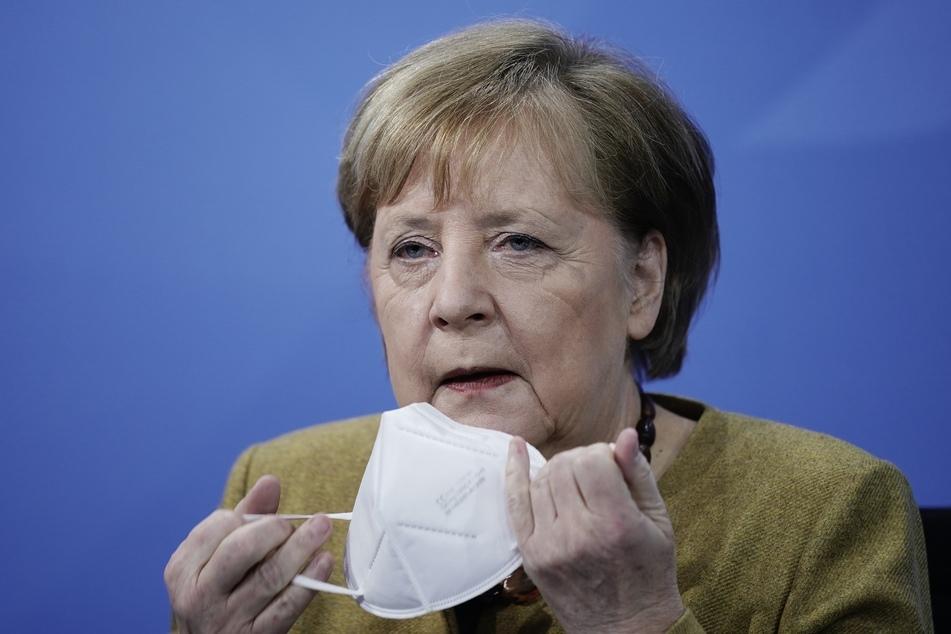 Bundeskanzlerin Angela Merkel (66, CDU), nimmt an der Pressekonferenz nach den Beratungen von Bund und Ländern über weitere Corona-Maßnahmen teil.