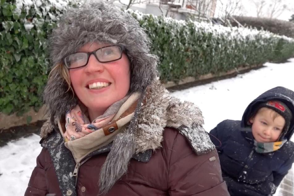 """""""Wir dachten: 'Wenn wir schon mal Schnee haben, müssen wir das doch ausnutzen'"""", erklärte Moritz Besitzerin Steffi Kapfrat."""