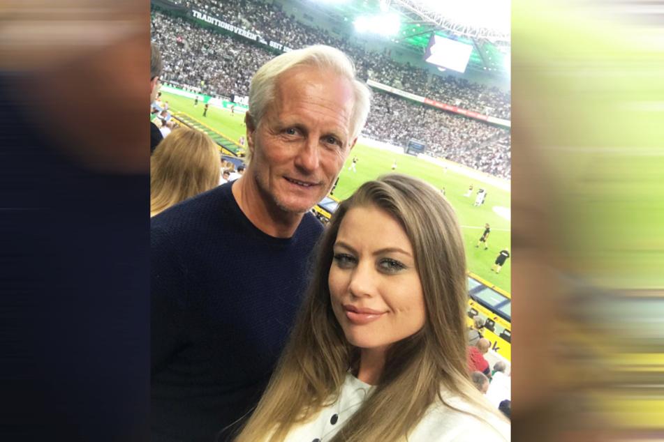 Fußballfans: Jörn Andersen mit seiner Tochter Lisa.