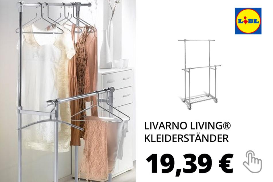 LIVARNO LIVING® Kleiderständer, 4 leichtlaufende Rolle