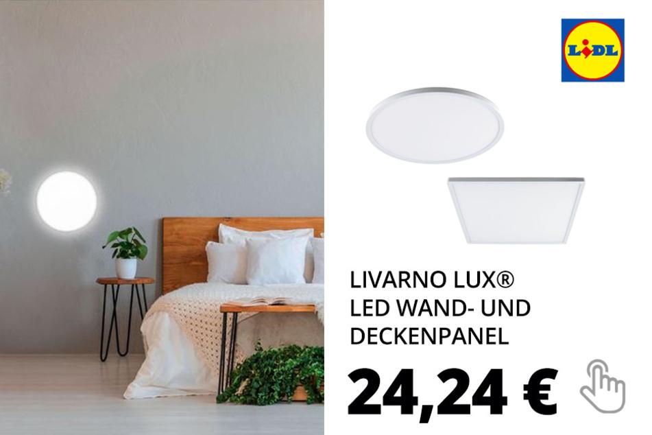 LIVARNO LUX® LED Wand- und Deckenpanel, 3 Stufen-Dimmer