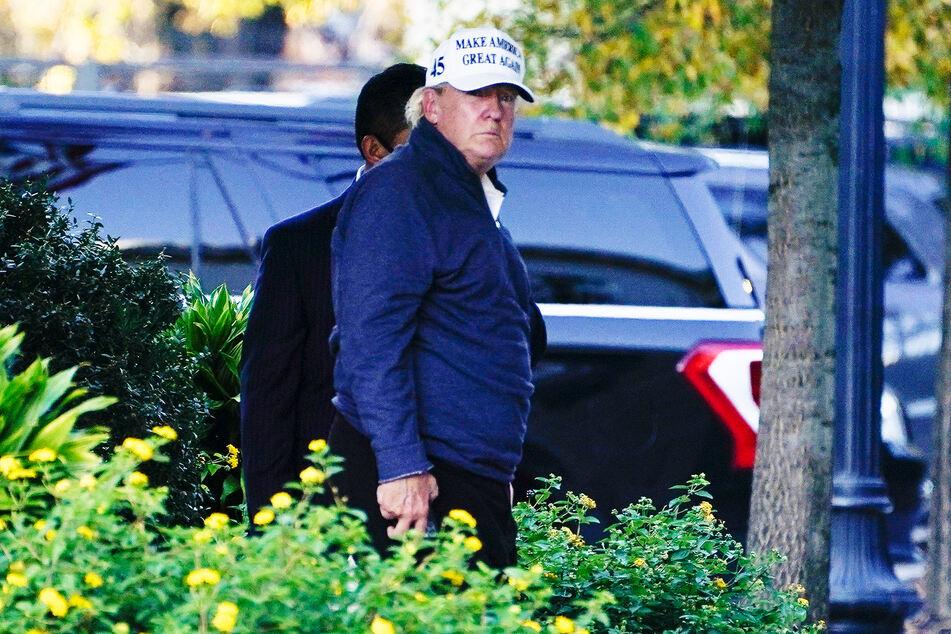 Donald Trump (74), noch Präsident in den USA, trifft nach einem Golfspiel im Weißen Haus ein.