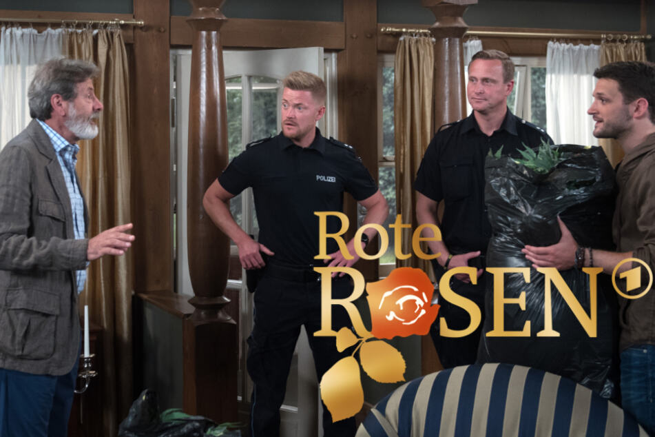 Rote Rosen: David und Gunter werden von der Polizei auf frischer Tat ertappt.