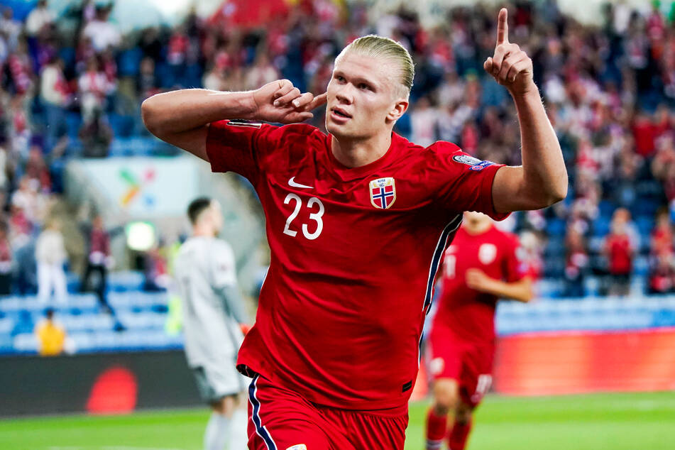 Erling Haaland (21) netzte in drei WM-Quali-Spielen fünfmal für Norwegen ein.