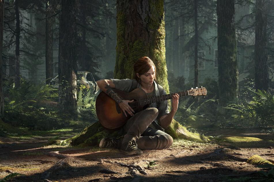 """""""I walk through the valley of the shadow of death."""" Joel hielt sein Versprechen und brachte Ellie Gitarrespielen bei."""