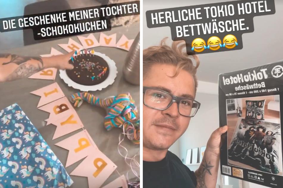 Tokio-Hotel-Drummer Gustav Schäfer (33) wurde zum Geburtstag von seiner Tochter (5) beschenkt.
