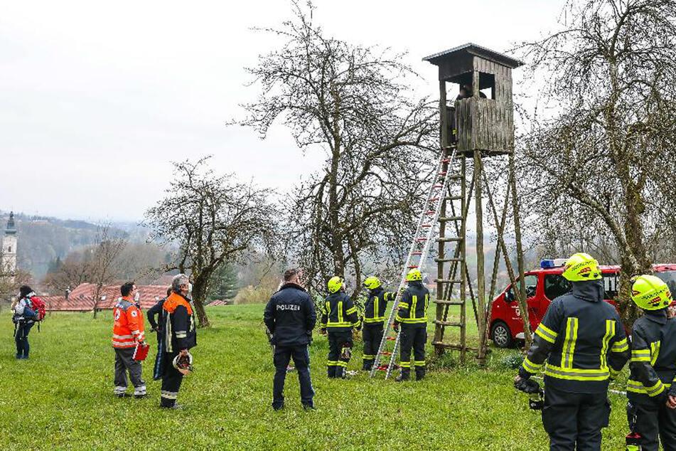 5-Jähriger sitzt auf Hochsitz fest, Mutter alarmiert Rettungskräfte