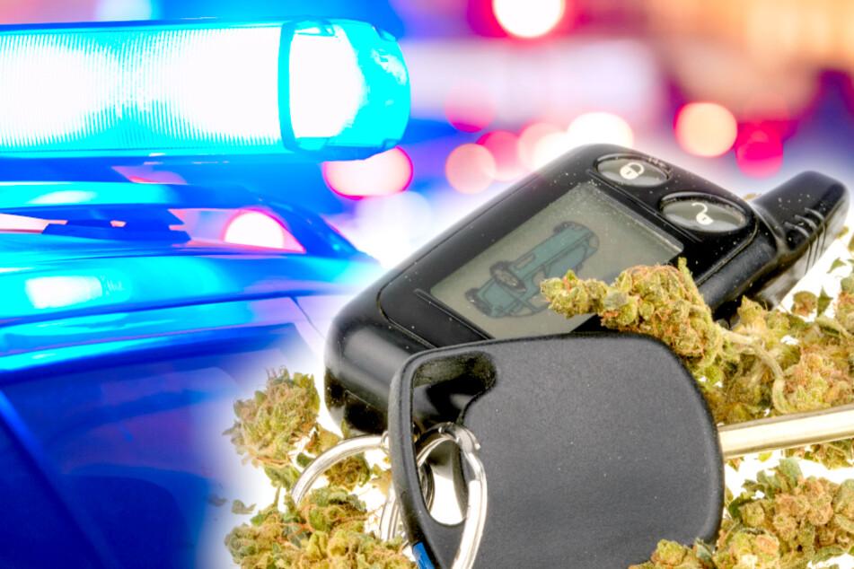 Ein offenbar bekiffter Mann (27) wurde am Samstagabend von der Polizei kontrolliert (Symbolbild).