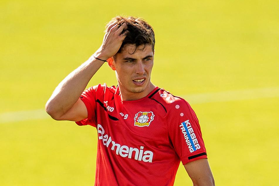 Trainingsauftakt von Bayer 04 Leverkusen: Kai Havertz (21) spulte sein Programm ab.