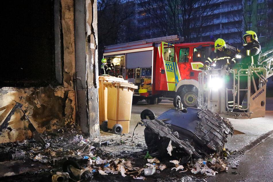 Chemnitz: Nächtliche Mülltonnen-Brände in Chemnitz nehmen kein Ende!