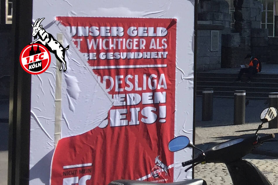 """""""Bundesliga um jeden Preis"""": Protest gegen Bundesliga-Geisterspiele in Köln"""