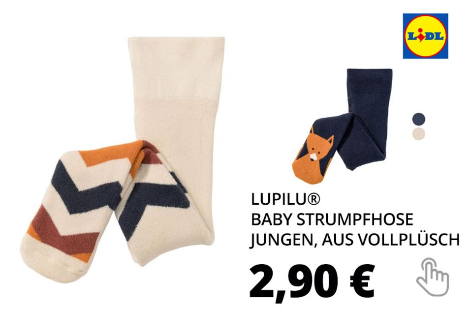 LUPILU® Baby Strumpfhose Jungen, aus Vollplüsch