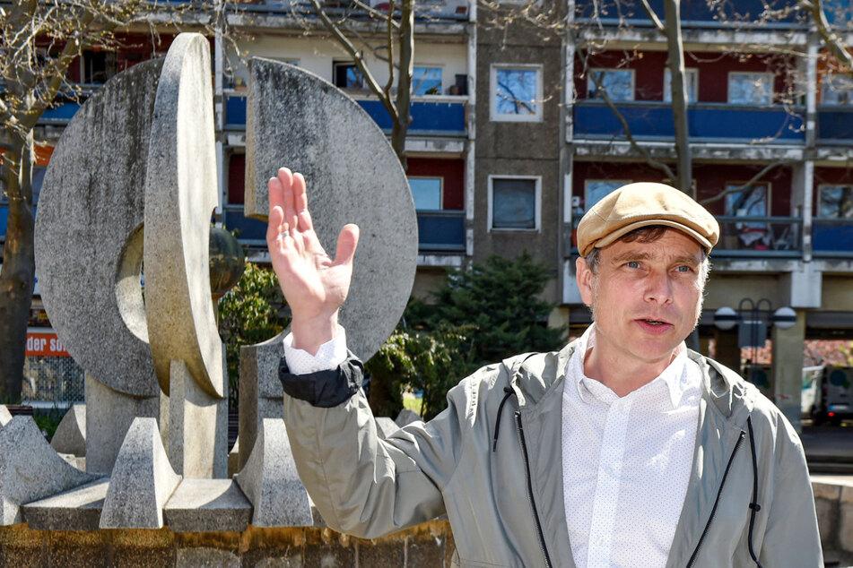 Dresden: Wasserspiele vom Neustädter Markt: Es naht Rettung für die DDR-Brunnen