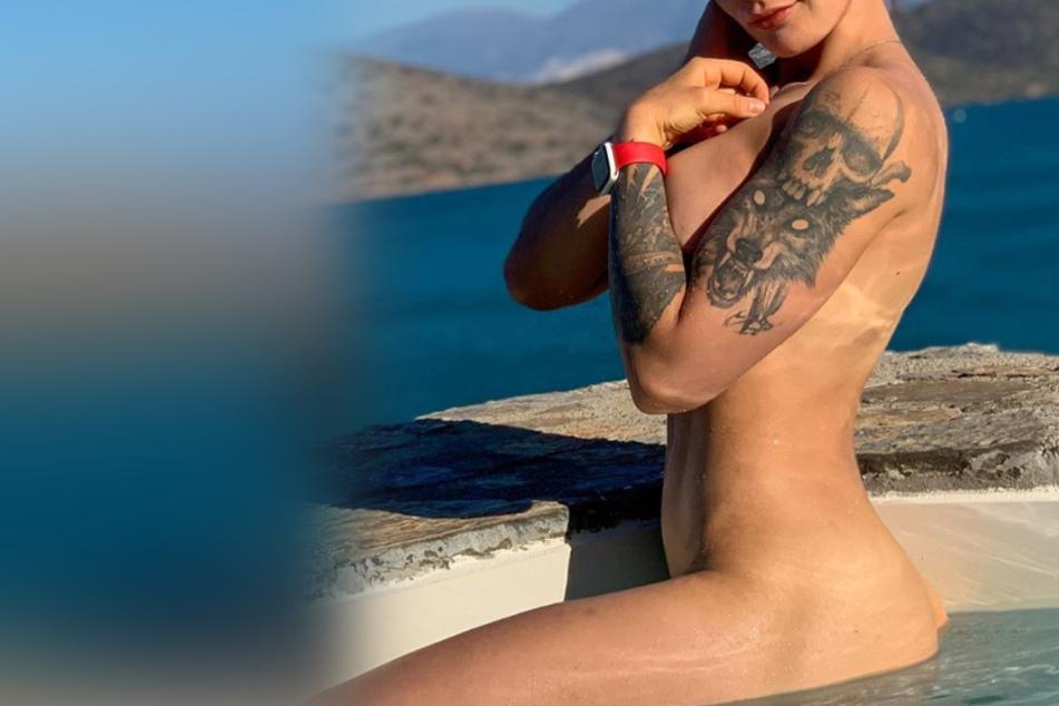 Heiße Fitness-Influencerin zeigt sich splitterfasernackt im Pool und spricht offen über Sex