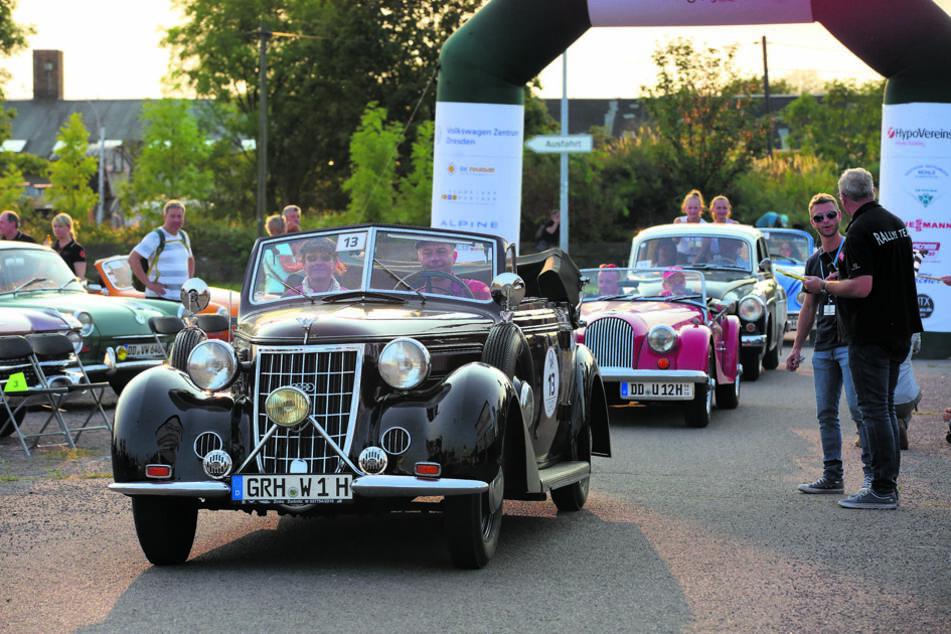 """Bei der """"Elbflorenz""""-Rallye gibt es viele Oldtimer zu bestaunen."""