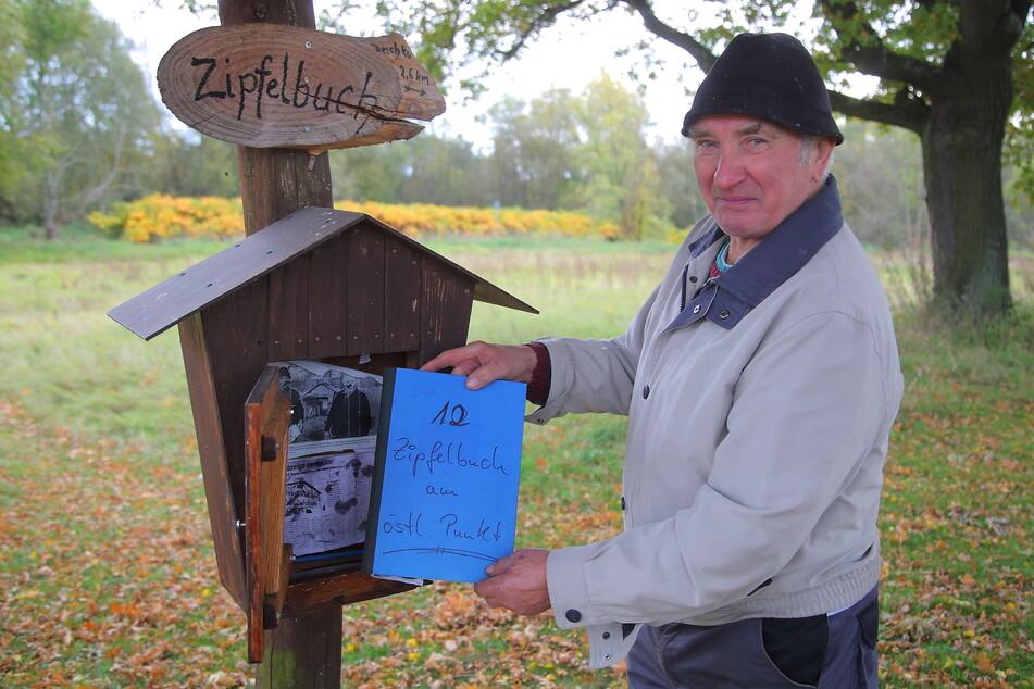 """Schon elf sogenannte """"Zipfelbücher"""" schrieben Besucher voll, darunter auch zahlreiche Touristen aus dem Westen."""