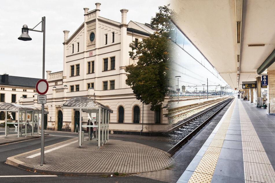 60-Jähriger fällt an sächsischem Bahnhof ins Gleis, kommt nicht mehr heraus