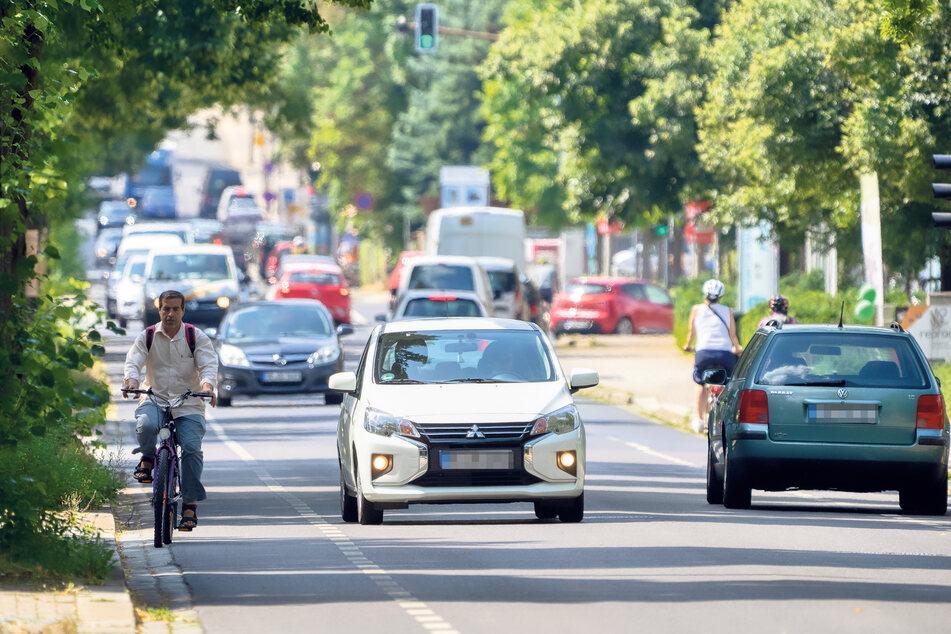 Dresden: Zu wenig Platz für Radler: Kommt bald Tempo 30 auf der Chemnitzer?