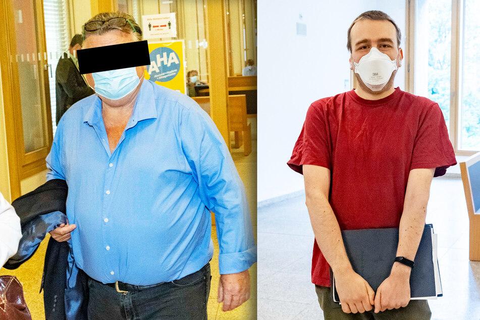 Dehoga-Vize Rolf-Dieter S. (70, l.) muss nun ein Anti-Agressionstraining absolvieren. Softwareentwickler Adam Schmalhofer (27) wurde vor über einem Jahr einfach umgefahren.