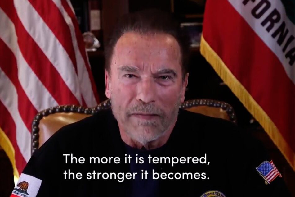Schwarzenegger is sure that the more democracy is strained, the stronger it will become.