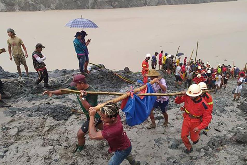 Tragischer Bergwerk-Unfall in Myanmar: Mindestens 100 Tote, weitere eingeschlossen
